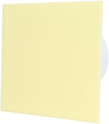 Badkamer ventilator diameter 125 mm met Trekkoord en Stekker - kunststof front beige