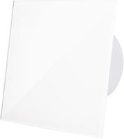Badkamer ventilator wit (glanzend) glazen front