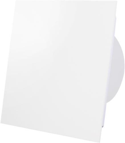 Badkamer ventilator diameter 125 mm - front mat wit glas