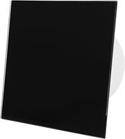 Badkamer ventilator zwart glazen front