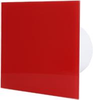 Badkamer ventilator rood glazen front