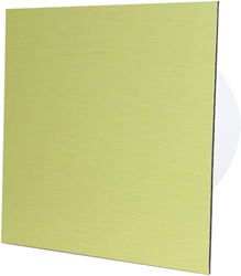 Badkamer ventilator diameter 125 mm met Timer - front goud aluminium