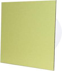 Badkamer ventilator diameter 125 mm met Trekkoord en Stekker - front goud aluminium