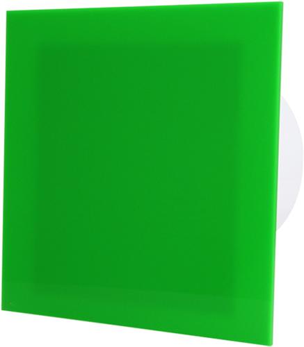 Badkamer ventilator diameter 125 mm met Timer en Vochtsensor - kunststof front groen