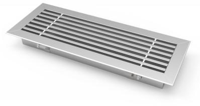 Staafrooster voor vloermontage met klemveren - 600x150 mm