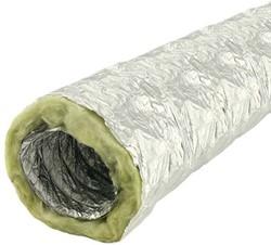 Akoestisch thermisch 102 mm geisoleerde ventilatieslang (1 meter)