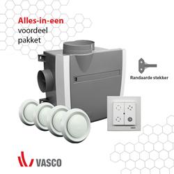 Vasco alles-in-een pakket C400 LE Fanbox (light edition) + rft bediening + 4 ventielen