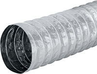 Aludec 202 mm ongeisoleerd flexibele slang (1 meter) (uitlopend)-1