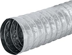 Aludec 162 mm ongeisoleerd flexibele slang (5 meter) (uitlopend)