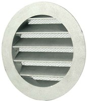 Aluminium buitenlucht muur rooster Ø 100mm - MRA100-1