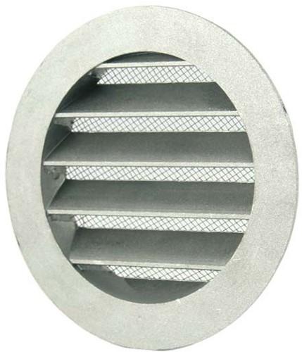 Aluminium buitenlucht muur rooster Ø 100mm - MRA100
