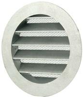 Aluminium buitenlucht muur rooster Ø 125mm - MRA125-1