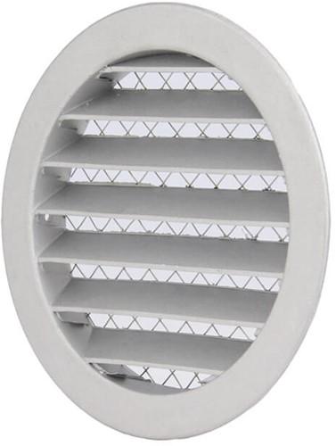 Aluminium buitenlucht muur rooster Ø 100mm - DSAV100