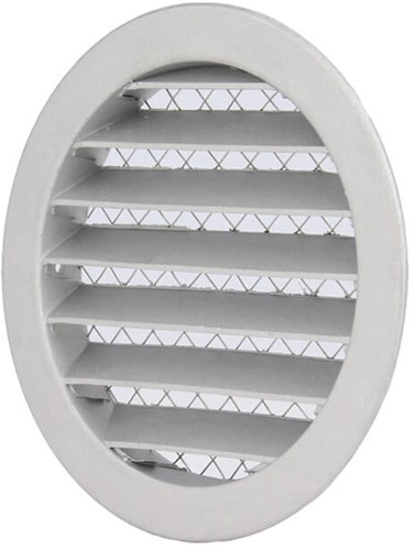 Aluminium buitenlucht muur rooster Ø 315mm - MRA315