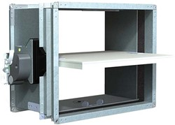 Rechthoekige brandklep 300 x 100 mm handbediend CU-LT + MFUSP