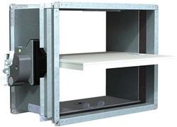 Rechthoekige brandklep 550 x 150 mm handbediend CU-LT + MFUSP