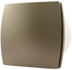 Badkamer ventilator 100 mm GOUD met TIMER en VOCHTSENSOR - design T100HTG