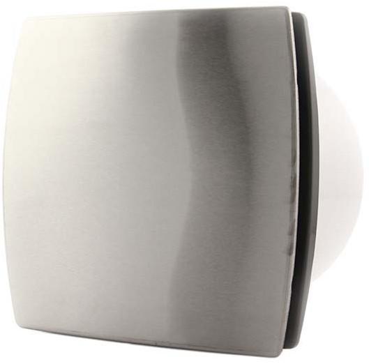 Badkamer ventilator 100 mm RVS TIMER en VOCHTSENSOR - design T100HTi ...