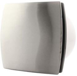 Badkamer ventilator 100 mm RVS TIMER en VOCHTSENSOR - design T100HTi