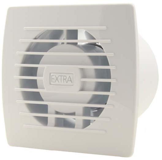Badkamer ventilator 100 mm WIT - basis E100 bij Ventilatieland.nl