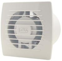 Badkamer ventilator 100 mm WIT met TIMER en VOCHTSENSOR - E100HT-1