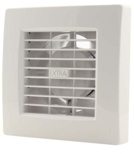 Badkamer ventilator 100 mm WIT met TIMER en VOCHTSENSOR - luxe ...