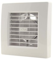 Badkamer ventilator 100 mm WIT met TIMER en VOCHTSENSOR - luxe X100HT-1