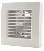 Badkamer ventilator 100 mm WIT met TIMER en VOCHTSENSOR - luxe X100HT