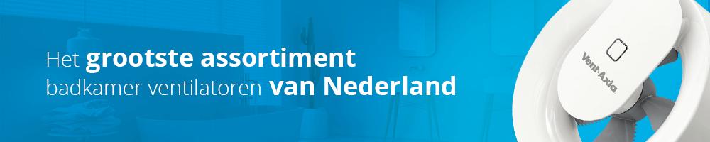 het grooste assortiment badkamerventilatoren van Nederland vindt u bij Ventilatieland.nl