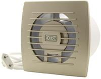 Badkamer ventilator diameter 100 mm GOUD met Trekkoord en stekker - E100WPG-1