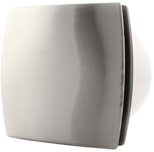 Badkamer ventilator diameter 100 mm RVS - design T100i bij ...