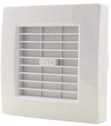Badkamer ventilator diameter 100 mm WIT met AUTOMATISCHE SLUITKLEP en TIMER - luxe X100ZT