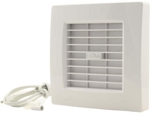 Badkamer ventilator diameter 100 mm WIT met AUTOMATISCHE SLUITKLEP ...