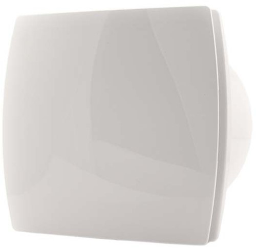 Badkamer ventilator diameter 100 mm WIT met TIMER - design T100T