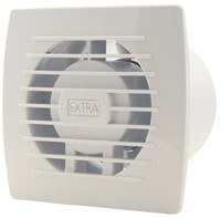Badkamer ventilator diameter 100 mm WIT met TIMER - E100T-1