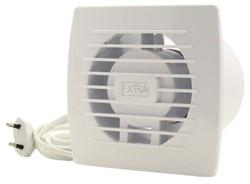 Badkamer ventilator diameter 100 mm WIT Trekkoord en stekker - E100WP