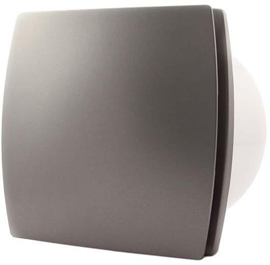 Badkamer ventilator diameter 100 mm ZILVER - design T100S bij ...