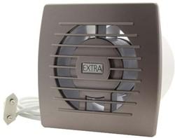 Badkamer ventilator diameter 100 mm ZILVER met Trekkoord en stekker - E100WPS