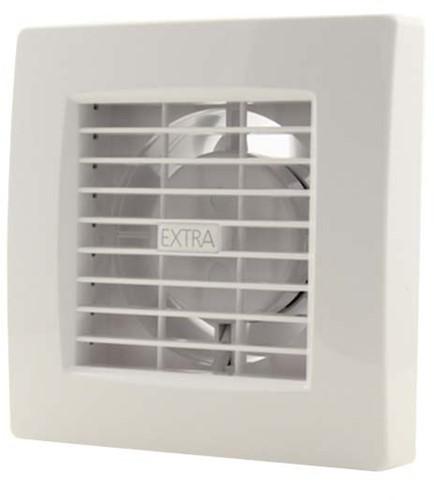 Badkamer ventilator diameter 120 mm WIT met TIMER - luxe X120T