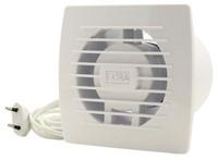 Badkamer ventilator diameter 120 mm WIT met Trekkoord en stekker - E120WP