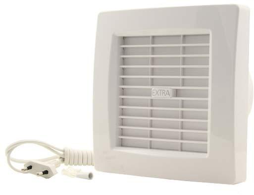 Hoogte Afzuiging Badkamer : Badkamer ventilator diameter mm wit met automatische sluitklep