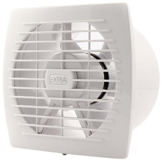 Badkamer Ventilator Diameter 150 Mm Wit Met Timer E150t