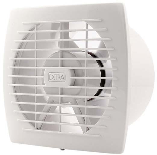 Badkamer ventilator diameter 150 mm WIT met TIMER en VOCHTSENSOR ...