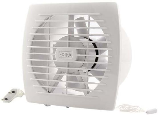 Badkamer ventilator diameter 150 mm WIT met Trekkoord en stekker ...