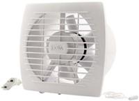 Badkamer ventilator diameter 150 mm WIT met Trekkoord en stekker - E150WP-1