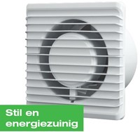 Badkamer ventilator Energiezuinig, Stil en met TIMER diameter 125 mm wit - 125TS-1
