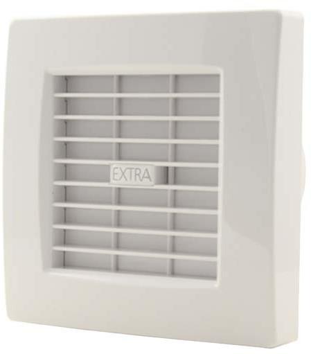 badkamer ventilator met automatische sluitklep 100 mm wit