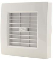 Badkamer ventilator met AUTOMATISCHE SLUITKLEP 100 mm WIT - X100Z-1