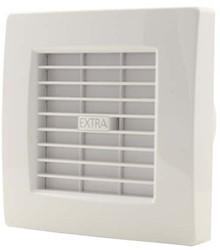 Badkamer ventilator met AUTOMATISCHE SLUITKLEP 100 mm WIT - X100Z