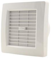 Badkamer ventilator met AUTOMATISCHE SLUITKLEP 120 mm WIT - luxe X120Z-1